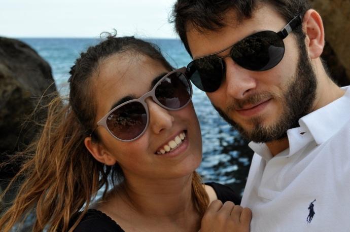 Us in Mojacar, Andalucia
